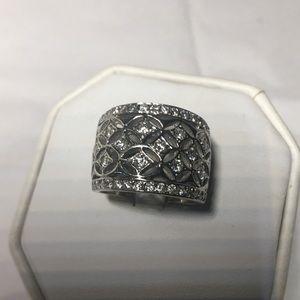 18K white gold diamonds wedding ring